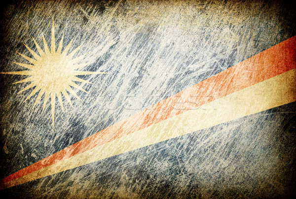 Grunge rubbed flag series of backgrounds. Marshall Islands. Stock photo © pashabo