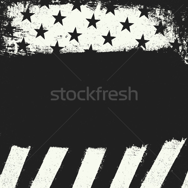Empty black grunge copy space on black and white negative americ Stock photo © pashabo