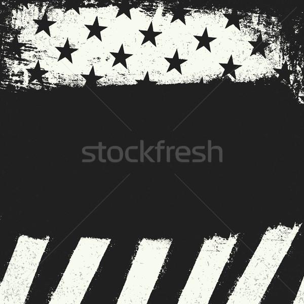 Boş siyah grunge bo siyah beyaz negatif Stok fotoğraf © pashabo