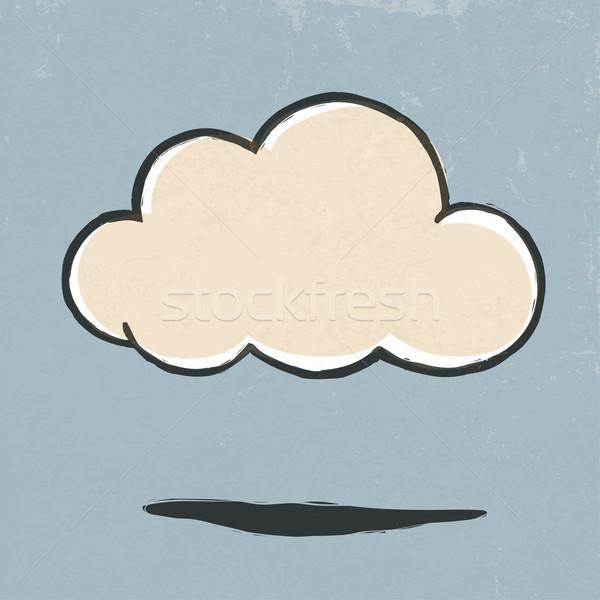 Chmura retro ikona eps10 niebo papieru Zdjęcia stock © pashabo