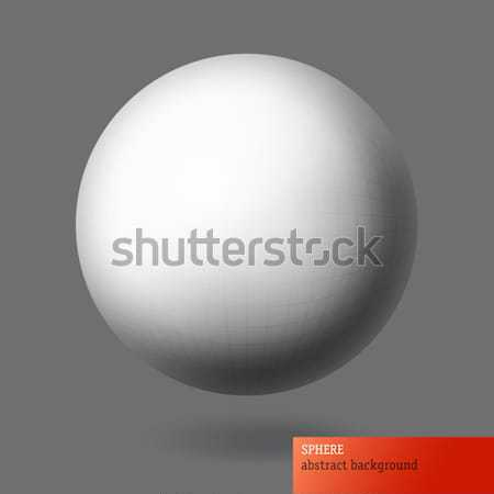 Sphere with wireframe grid surface. Abstract background, EPS10 Stock photo © pashabo