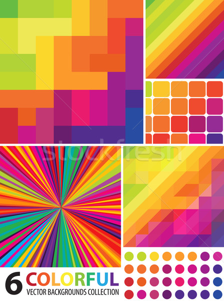 Multi-colored Abstract Backgrounds Collection Stock photo © pashabo