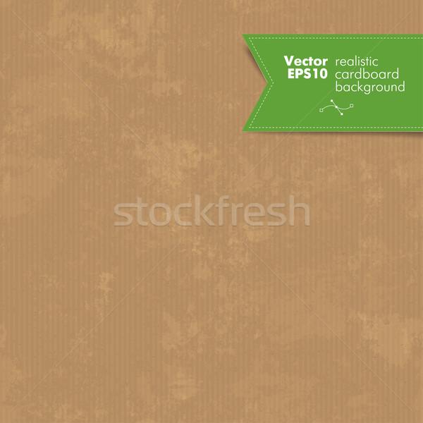 Stock photo: Seamless cardboard vector texture