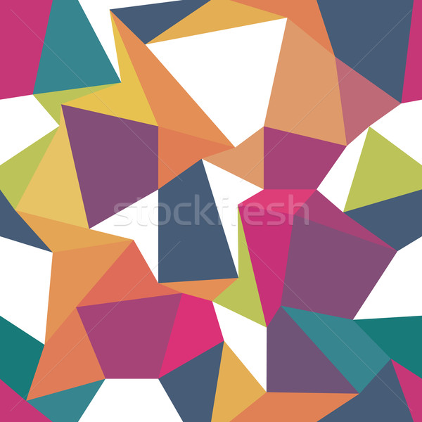 Colorato senza soluzione di continuità abstract disegno geometrico moda blu Foto d'archivio © pashabo