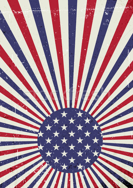 Grunge Amerika bayrak soyut amerikan vatansever Stok fotoğraf © pashabo
