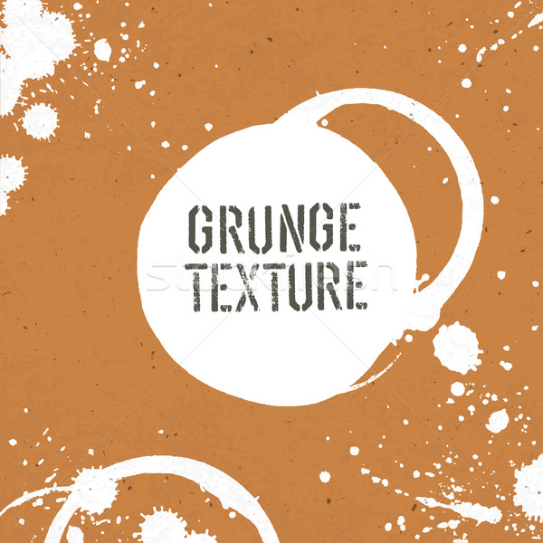 Grunge texture template with stains. Vector Stock photo © pashabo