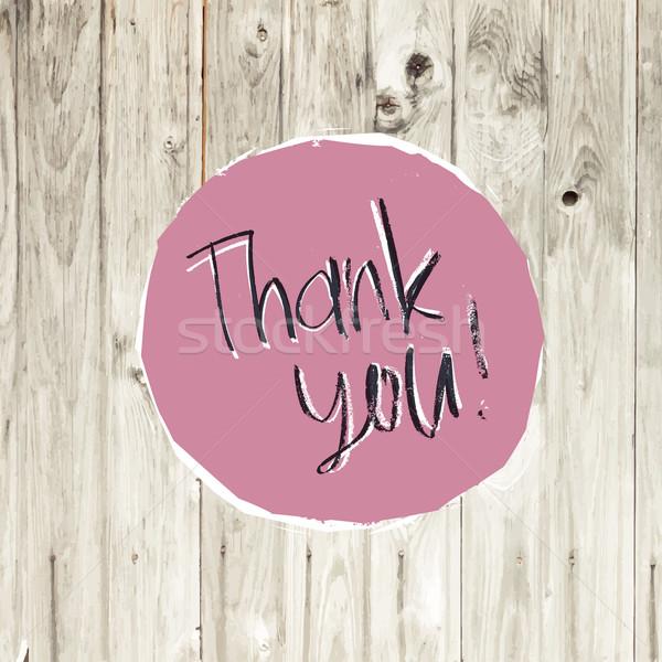 Teşekkür ederim kart parke doku vektör ahşap Stok fotoğraf © pashabo