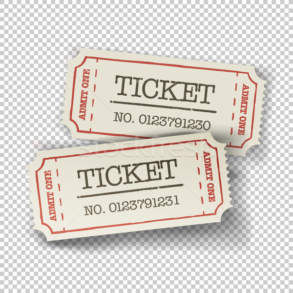 Two cinema tickets (pair). Isolated on transparent background, v Stock photo © pashabo