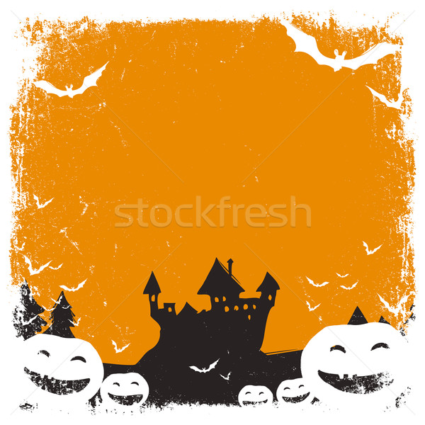 Halloween themed background with space for text and isolated bor Stock photo © pashabo
