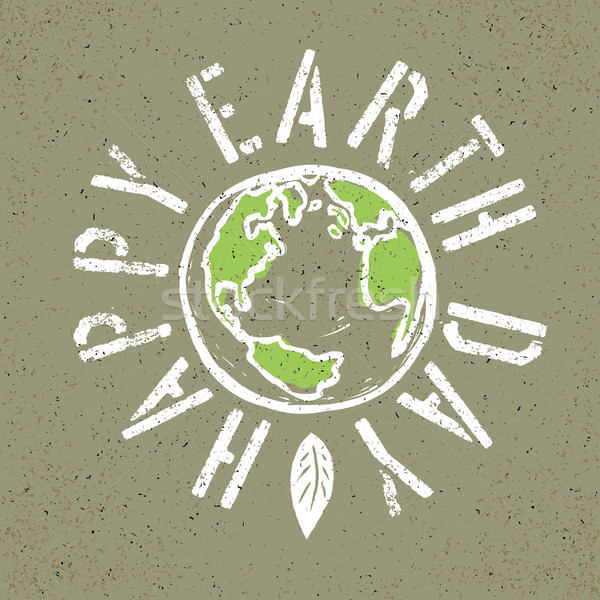 Boldog föld napja grunge Föld szimbólum textúra Stock fotó © pashabo