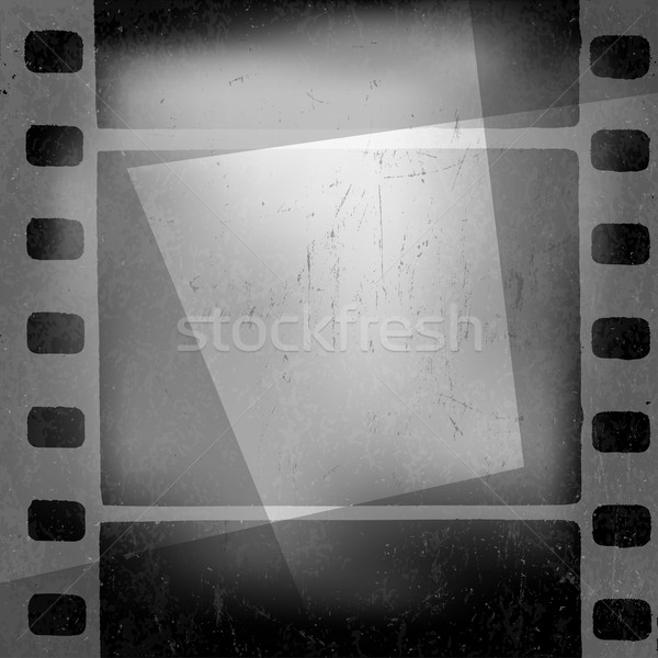 Grunge monochrome filmstrip with space for text . Film noir, old Stock photo © pashabo