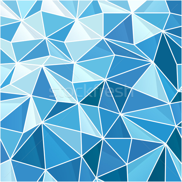Abstract Blue Geometric Background. Composed from triangle shape Stock photo © pashabo