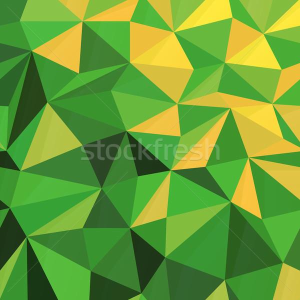 Triangular Low Poly Green Pattern Stock photo © pashabo