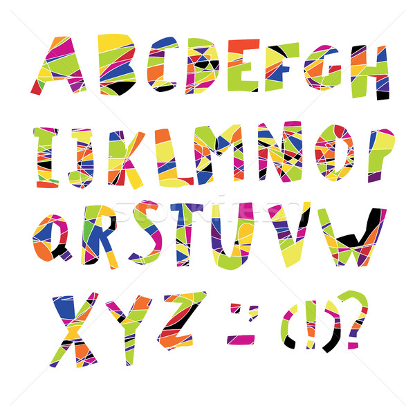 Colorful Alphabet. Capital letters. Stock photo © pashabo