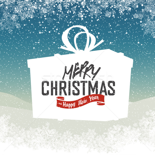 Xmas Wishing you a very Merry Christmas and Happy New Year lette Stock photo © pashabo