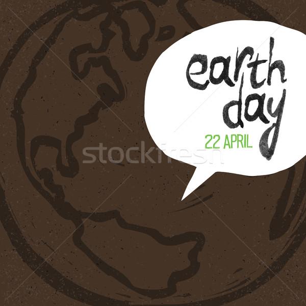 Stock fotó: Boldog · föld · napja · 22 · Föld · szimbólum · szöveg