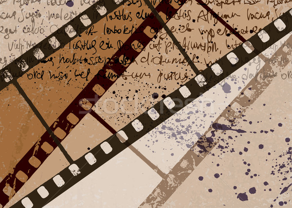 Grunge textured film frame abstract vector background. EPS10. Stock photo © pashabo