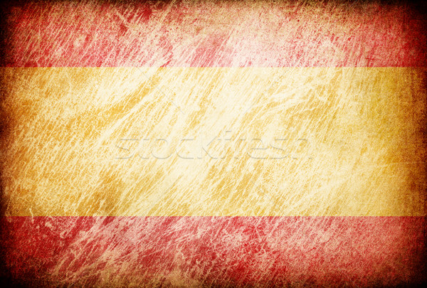 Grunge rubbed flag series of backgrounds. Spain. Stock photo © pashabo