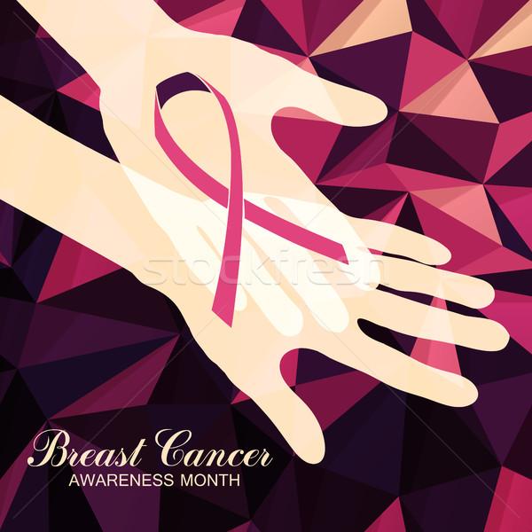 Wstążka rak piersi streszczenie różowy dziewczyna Zdjęcia stock © pashabo