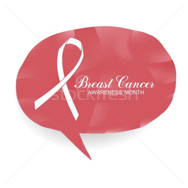 Breast Cancer Awareness Month Banner. Logo for poster. Message f Stock photo © pashabo