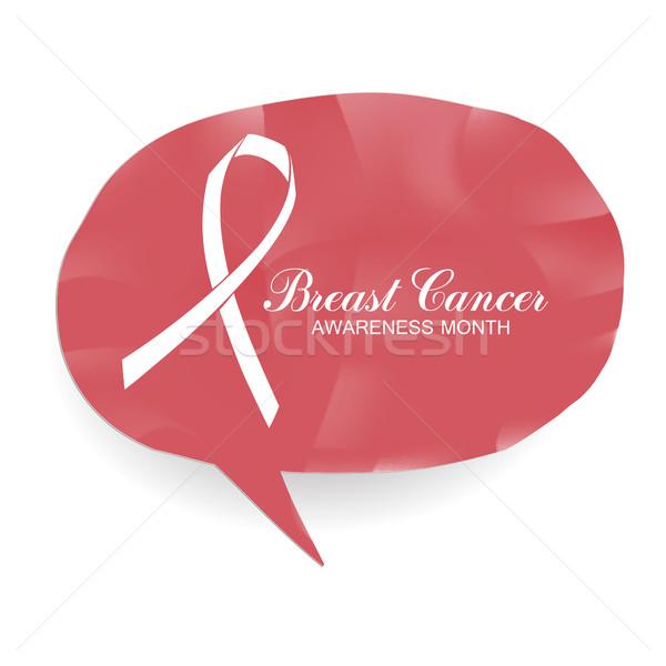 Cáncer de mama conciencia mes banner logo anunciante Foto stock © pashabo
