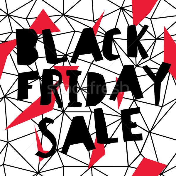 Grande venda black friday cartaz baixo wireframe Foto stock © pashabo