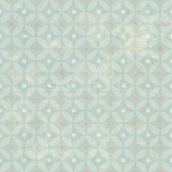 Seamless Vintage Retro Pattern. With Grunge Textured Background. Stock photo © pashabo