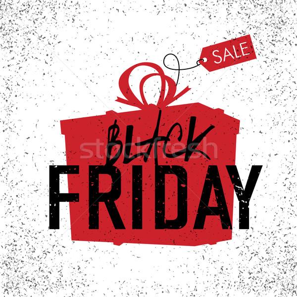 Black friday ventes publicité affiche blanche design Photo stock © pashabo