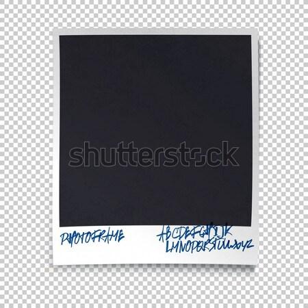 Photo framewith shadow and hand drawn alphabet on transparent ba Stock photo © pashabo