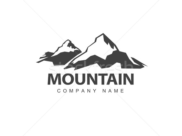 Montagna logo modello abstract natura design Foto d'archivio © pashabo