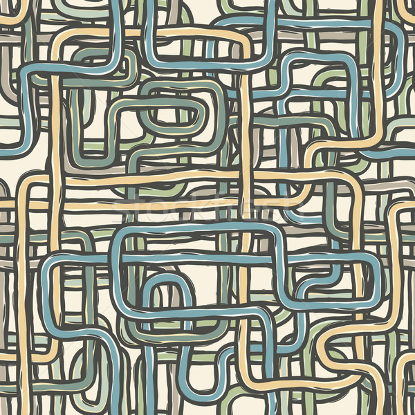Seamless tangled wires retro background. Vector, EPS10 Stock photo © pashabo