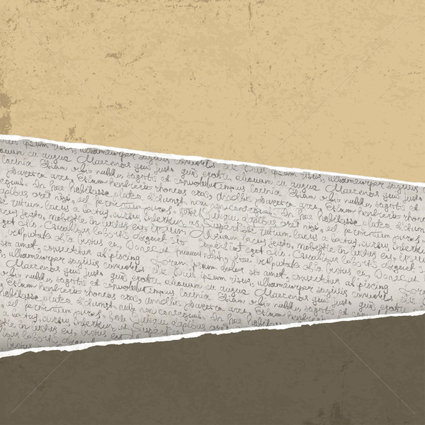 Vintage gescheurd textuur abstract pen brief Stockfoto © pashabo