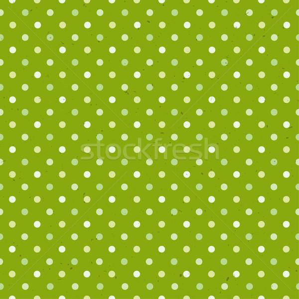 Zöld mintázott pötty végtelen minta papír művészet Stock fotó © pashabo