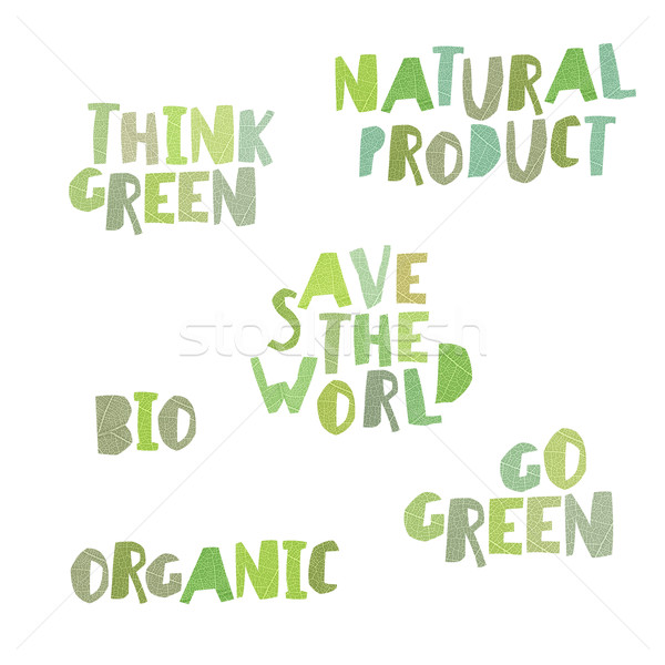 Think green, Natural product, save the world, bio, organic, go g Stock photo © pashabo