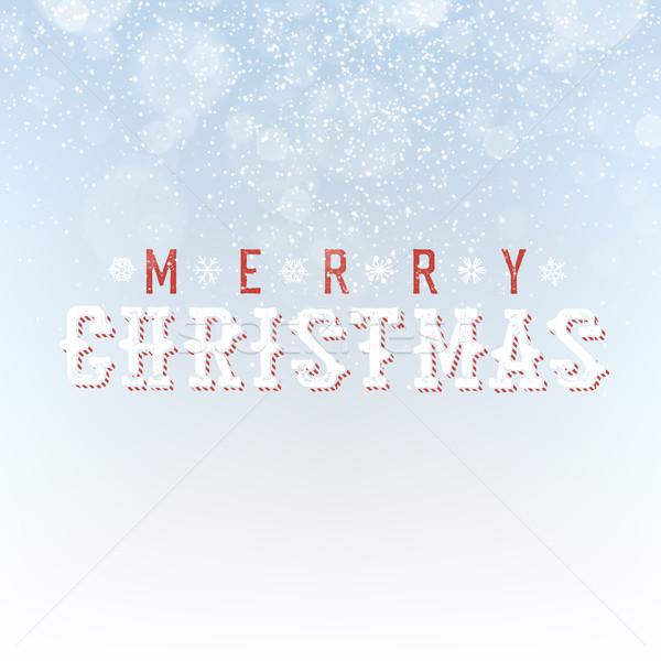 Alegre Navidad nevadas luz efecto bokeh Foto stock © pashabo