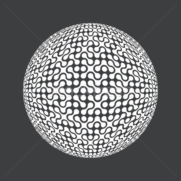 Abstract retro technologie cirkel vector eps8 Stockfoto © pashabo