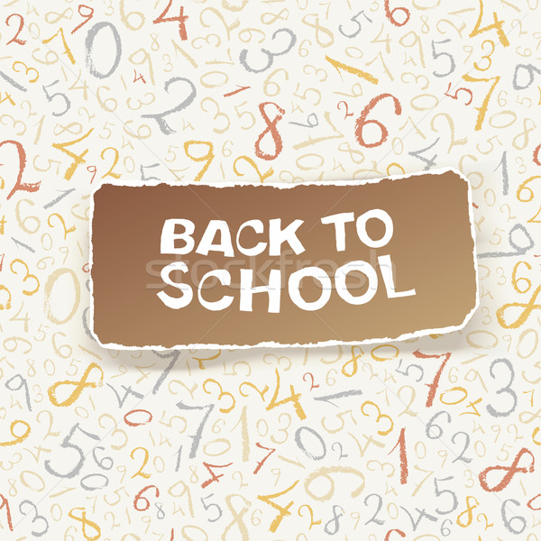 Back to school on chaotic numbers seamless pattern. Vector, EPS1 Stock photo © pashabo