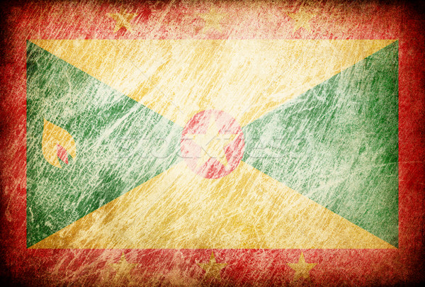 Grunge rubbed flag series of backgrounds. Grenada. Stock photo © pashabo