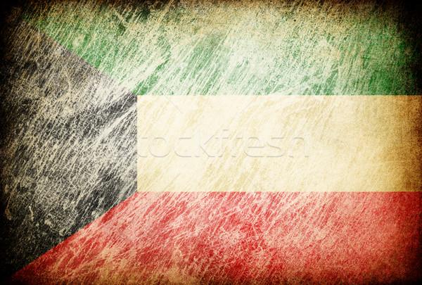 Grunge rubbed flag series of backgrounds. Kuwait. Stock photo © pashabo