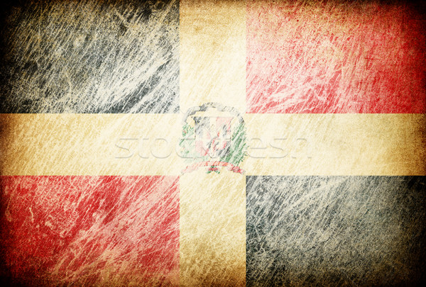 Grunge rubbed flag series of backgrounds. Dominican Republic. Stock photo © pashabo