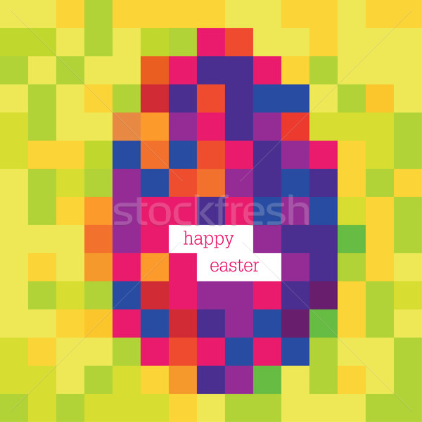 Easter egg, painted by pixels. Vector, EPS8 Stock photo © pashabo