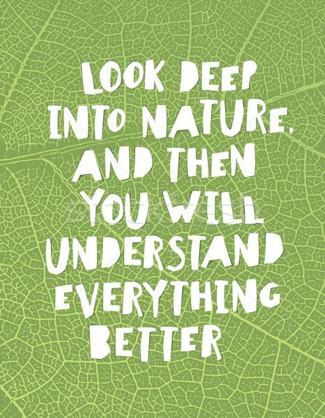 Föld napja idézetek inspiráló néz mély természet Stock fotó © pashabo