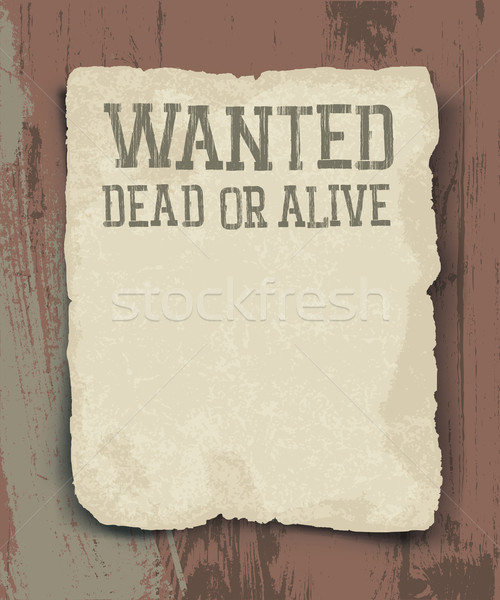 Wanted dead or alive. Vintage poster Stock photo © pashabo