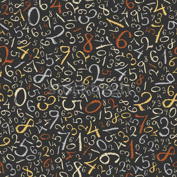 Abstract mathematics background. Color figures seamless pattern. Stock photo © pashabo