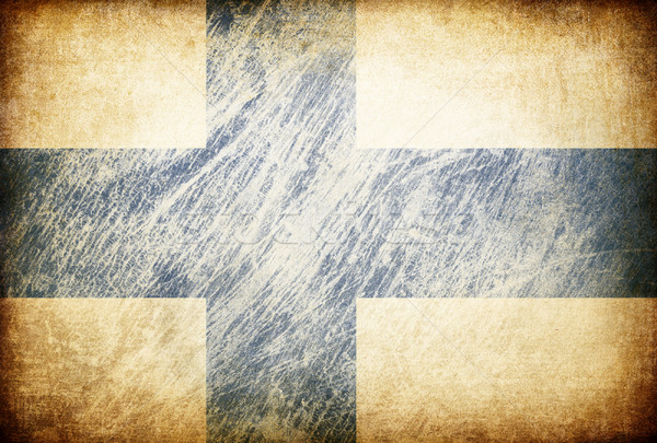 Grunge rubbed flag series of backgrounds. Finland. Stock photo © pashabo