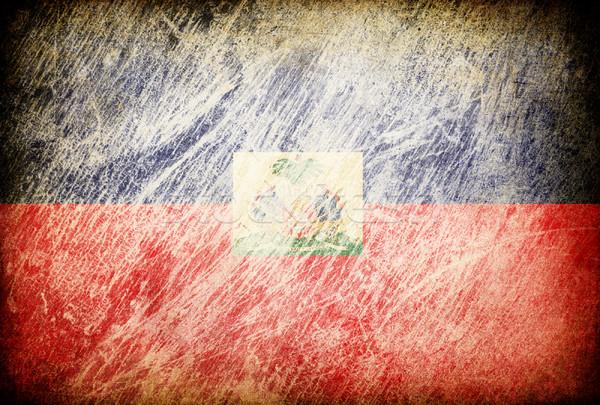 Grunge vlag achtergronden Haïti textuur digitale Stockfoto © pashabo