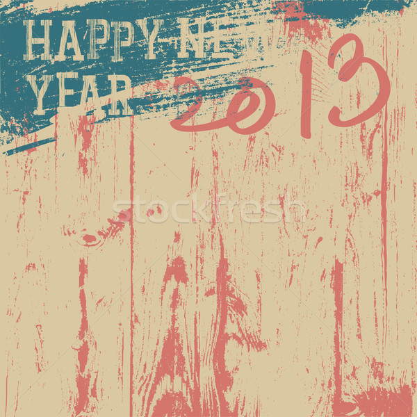 2013 New Year background retro styled. Vector, EPS8. Stock photo © pashabo