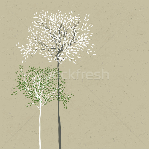 Trees background. The trunk and leaves in separate layers. Vecto Stock photo © pashabo