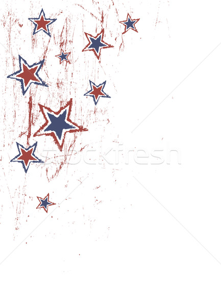 Stars on scratched grunge texture. Vector Stock photo © pashabo