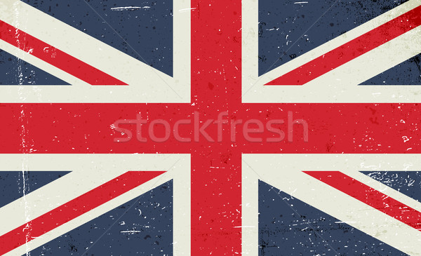 Grunge vector image of the British flag. Abstract grungy Great B Stock photo © pashabo